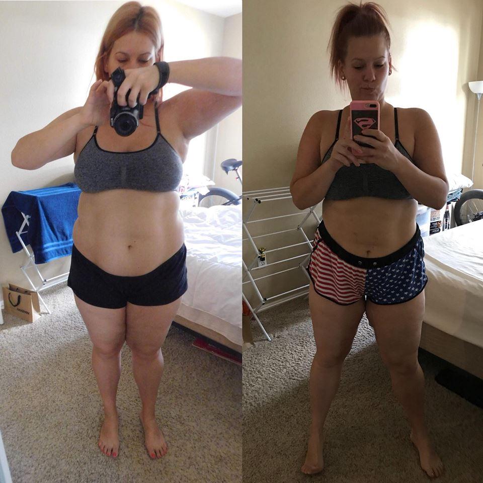 pár fogyás előtt és után
