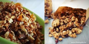 fogyás granola rudak)